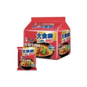 康师傅 大食袋5连包-红烧牛肉