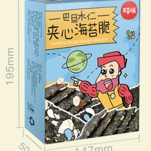 百草味夹心海苔脆