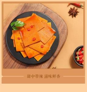 百草味甜辣薄豆干