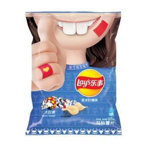 乐事薯片周黑鸭香浓奶糖味