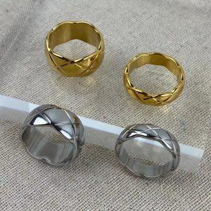 qimiao-小香风菱格纹戒指