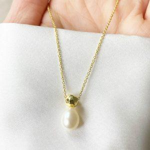 qimiao-香水瓶珍珠项链