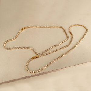 qimiao-小水钻项链