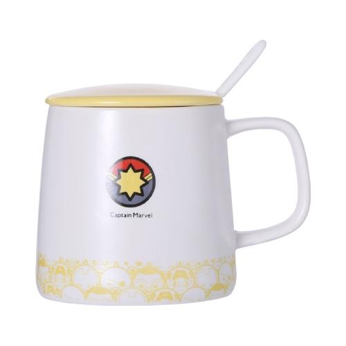 MINISO 名创优品 漫威卡通带盖带勺陶瓷杯