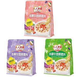 人人欢喜水果牛奶燕麦片