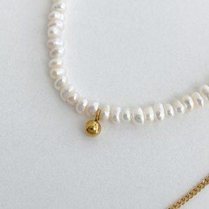 妙/ 质感小金豆 迷你天然淡水珍珠项链