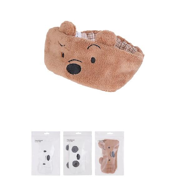 奇妙-MINISO 名创优品 • we bare bears 熊熊三贱客洗脸敷面膜束发带