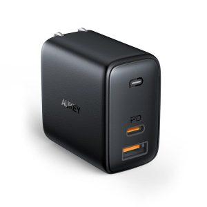 Product_奇妙_AUKEY Omnia Mix Dual-Port USB-C + USB-A PD 65W Charger (Black)