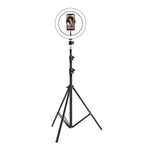 Product_奇妙_Ergopixel 6.8ft Long Tripod With LED Ring Light - Black