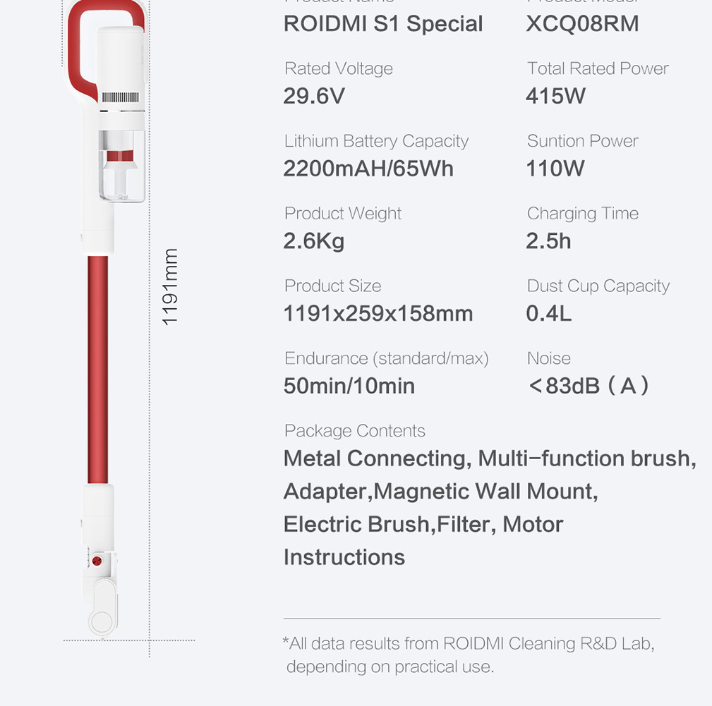Product_奇妙_Roidmi S1Special Cordless Vacuum Cleaner
