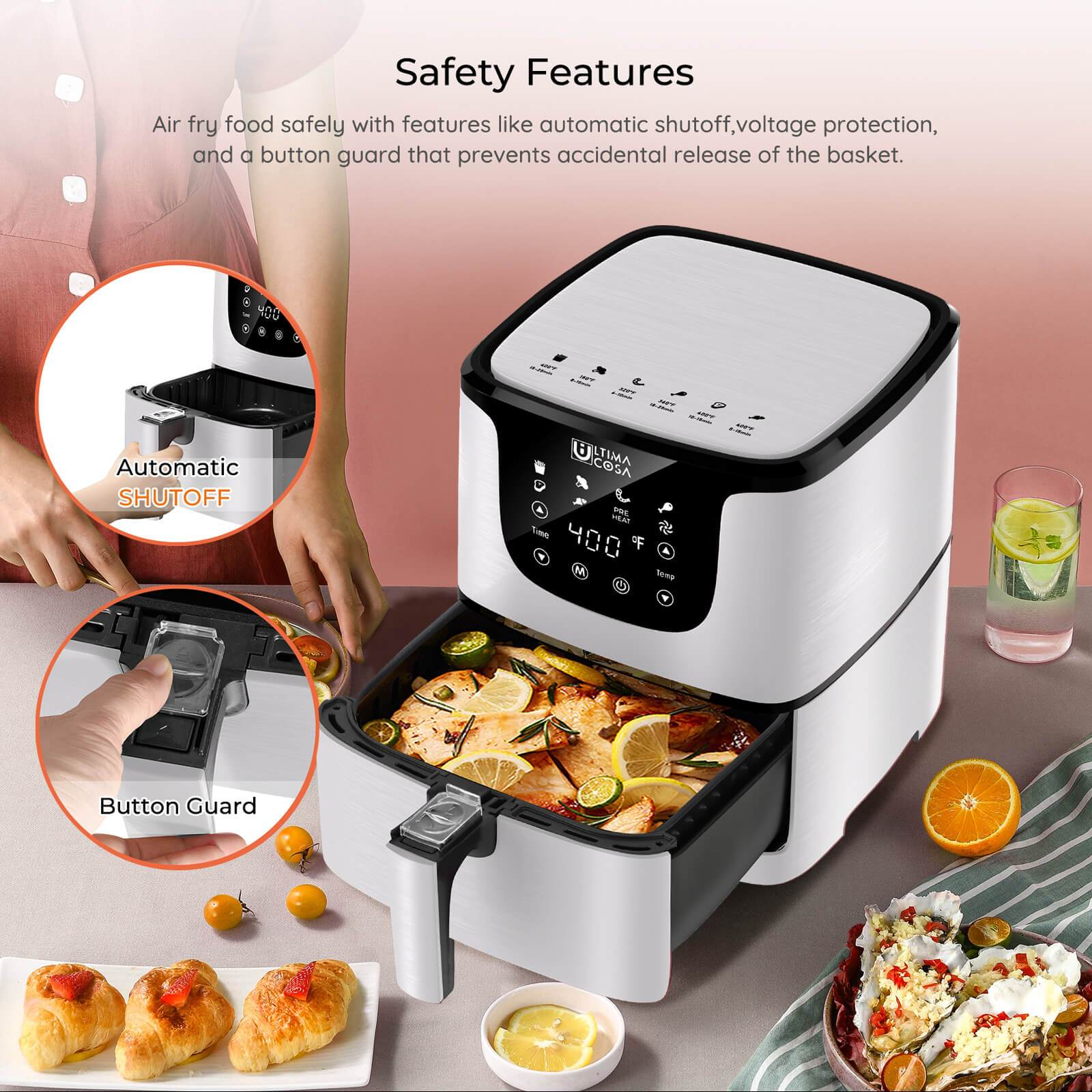 Product_奇妙_Ultima Cosa Presto Luxe Plus Air Fryer 5L (White)