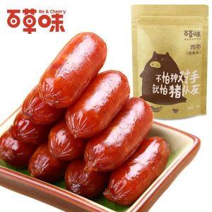 奇妙零食-百草味炭烤小香肠180g